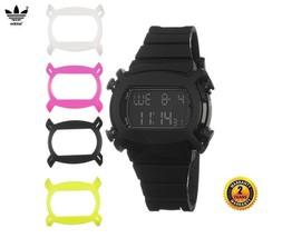ADIDAS ADH9201 Round DIGITAL CHRONO Watch BLACK Silicone Strap Black Pin... - €102,74 EUR