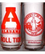 Coca~Cola Glass Collegiate Crest University of Alabama Roll Tide - $8.00
