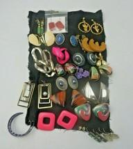 Vintage Lot of 24 pairs of earrings Art Deco Pop Art Boho - $20.00
