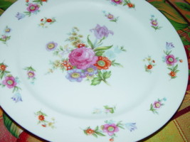 """SANGO CHINA DINNER PLATE 10"""" white w/ floral - $10.50"""