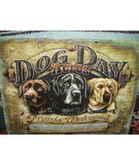 Tin Sign Dog Day Acres Friends Welcomed Robert Schmidt  Multi-Color - $25.00