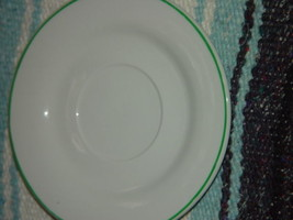 """Gibson Saucer with Green Trim  6"""" - $7.50"""