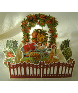 Valentine, B. Shackman, Reproduction Victorian Garden w/Envelope  - $4.00