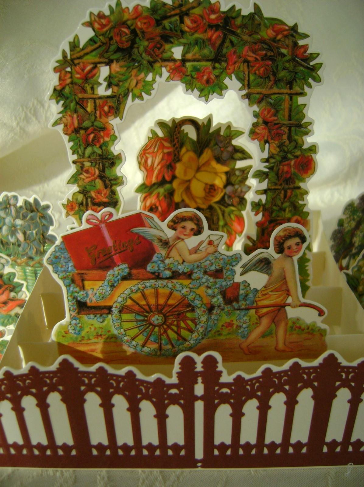 Valentine, B. Shackman, Reproduction Victorian Garden w/Envelope