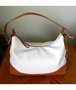 White and Tan George Satchel Handbag Purse - $12.99
