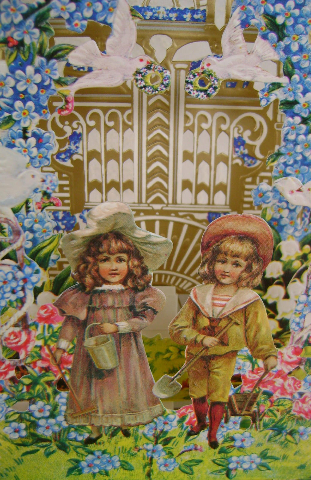Reproduction Victorian Birthday Card