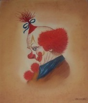 ORIGINAL RED HAIRED CLOWN PAINTING BY TARA WENSEL - $675.49