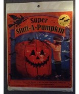 One Giant Super Stuff-a- Pumpkin Jack-o-lantern Pumpkin Lawn Leaf Bag 45... - $3.99