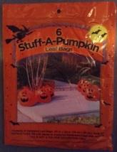6 Stuff-a-Pumpkin Pumpkin Halloween Jack-O-Lantern Leaf Lawn Bags and tw... - $4.59