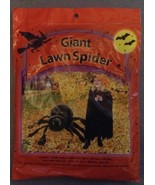 One Giant Black Halloween Spider Lawn Bag Set with twist ties - $3.99