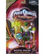 Power Rangers Mystic Force Green SOUND Ranger Action Figure NeW +2 Weapon Staffs - $32.99