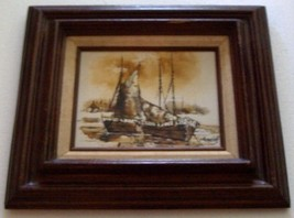 ORIGINAL SIGNED ADRIANO MARCHELLO ITALY OIL PAINTING - $386.99