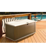 Storage Box Rubbermaid Deck Seat Resin New Lock Buffet Food Drinks Patio - $198.59