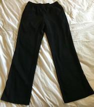 ANNE KLEIN Woven Black Elastic Waist Loose Palazzo Pants Size 4 NWT - $37.39