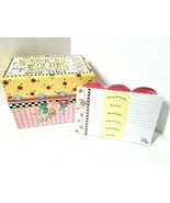 Mary Engelbreit NEW Recipe Box + Cards PINCH OF THIS & DASH OF THAT W/ D... - $34.60