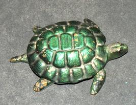 Vintage Bronze Green Ashtray Trinket Tray Box Turtle Tortoise image 3