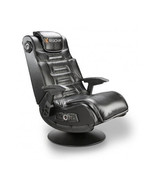 Black Gaming Chair Wireless Pedestal Plush Cushion X-Rocker Deluxe  - $294.71