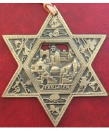 Gold Star of Magen David wall hanging Jerusalem old city ornament from I... - £12.14 GBP