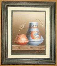 Original & Signed Native Indian Oil Painting By Folio - $503.59