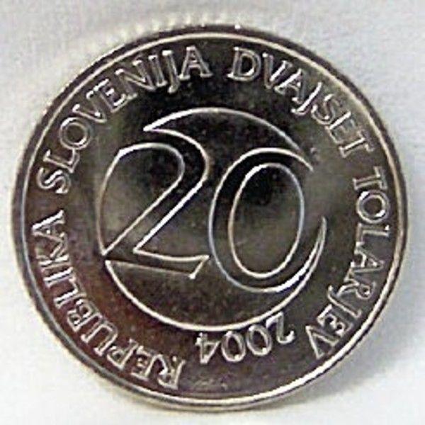SLOVENIA 2004 STORK BIRD 20 TOLAR CUNI COIN Uncirculated