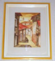 ORIGINAL SIGNED RUIZ LATINO SOUTH AMERICAN VILLAGE ART - $230.99