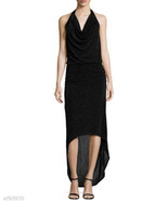 LAUNDRY BY SHELLI SEGAL Beaded Halter-Neck Gown, Black - NWT SIZE 0 - $187.11