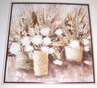 ORIGINAL TEXTURED OIL ART PAINTING SIGNED STEPHEN KAYE