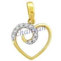 New Year Gift Heart!! 0.18 Ctw Natural  Diamond Hallmark 14K Gold Pendant - $512.00
