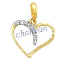 Heart Look !! 0.18 Ctw Natural  Diamond Hallmark 14K Yellow/White Gold P... - $520.00