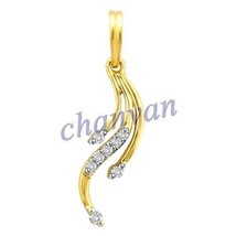 Stylish 0.24 Ctw Natural  Diamond Hallmark 14K Yellow Gold Wedding/Party... - $489.00
