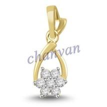 Pretty !! 0.21 Ctw Natural  Diamond Hallmark 14K Yellow Gold Wedding Pen... - $491.00