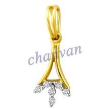 Beautiful !!0.20 Ctw Natural  Diamond Hallmark 14K Yellow Gold Elegant P... - $497.00