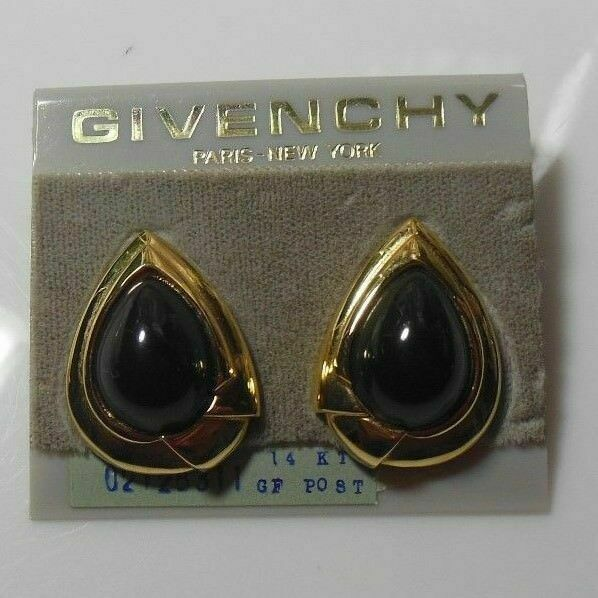 Primary image for Givenchy Paris New York 14K GF Teardrop Post Earrings