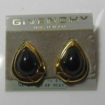 Givenchy Paris New York 14K GF Teardrop Post Earrings - $163.35