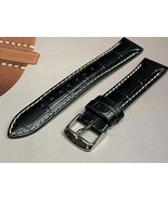 18mm sports genuine calf leather watch band contrast stitch fit Tissot a... - $21.60