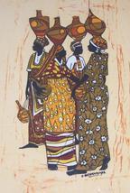Original African Textile Art Painting by Jonathan Biferamunda Kampala, U... - $579.99