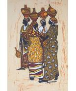 Original African Textile Art Painting by Jonath... - $579.99