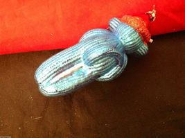Glass ornament  sock monkey in choice of blue teal or red department 56 new image 11