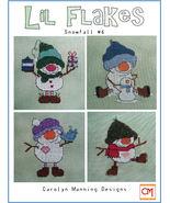 Lil Snowflakes #6 snowman cross stitch chart CM Designs - $9.00