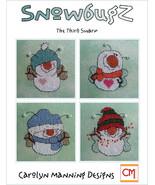 Snowbugz The Thirds Swarm snowman cross stitch chart CM Designs - $9.00