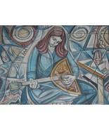 """Original Hand Signed Irving Amen """"Musician"""" Judaica A/P Lithograph Print... - $1,161.00"""