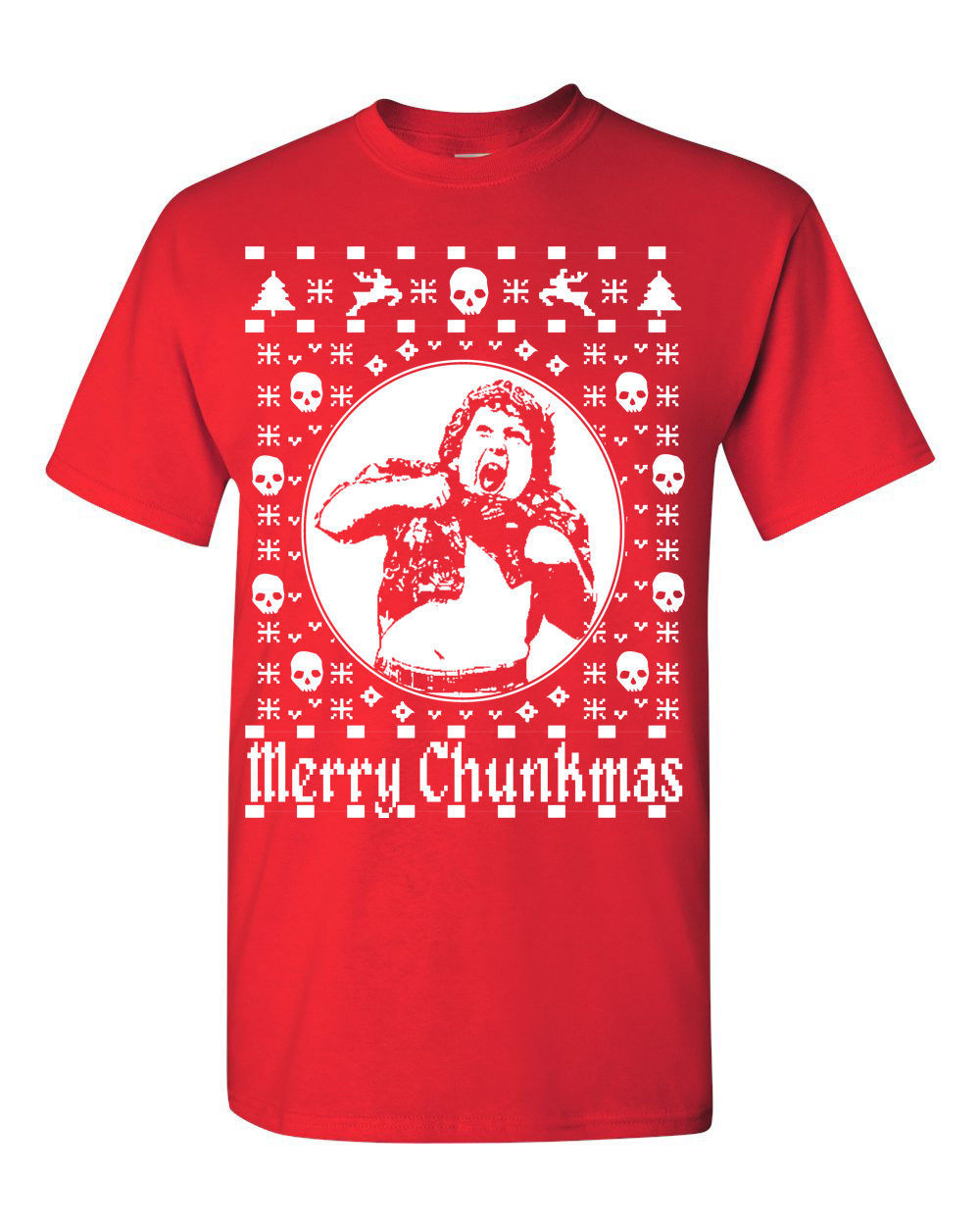 Used, Merry Chunkmas Goonies Merry Christmas Ugly Sweater Men's TEE SHIRT 1555 for sale  USA