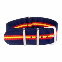 20mm Nato Canvas Nylon wrist watch Band strap Lenght 255mm RED YELLOW  BLUE - $10.42