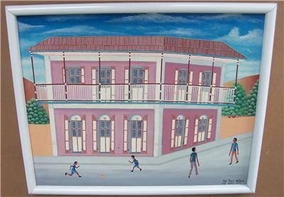 Original Pierre Antoine Cap Haitien, Haiti Painting in the style of Philome Obin