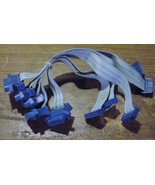 """Vintage 5 Game Cables Connectors to 16 pin two row female jumpers 9"""" Long. - $0.82"""