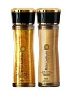 KERATIN CURE MOISTURIZING ARGAN OIL SHAMPOO CONDITIONER GOLD & HONEY 160m - $39.99