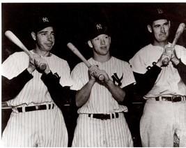 Joe Dimaggio Mickey Mantle Ted Williams 16X20 BW Baseball Memorabilia Photo - $29.95