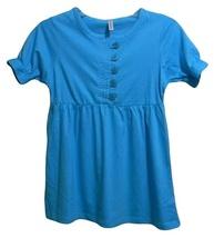 Girls Size M Aqua Blue Tunic Top - $4.99