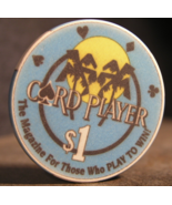 """$1.00 Casino Wet Chip From: """"The Card Player Cruises""""- (sku#2894) - $3.19"""