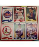 1990 Fleer baseball card box bottom panel Davis Johnson Hershiser - $8.00